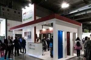 Allestimenti fieristici Milano MADE EXPO Stand Metalport