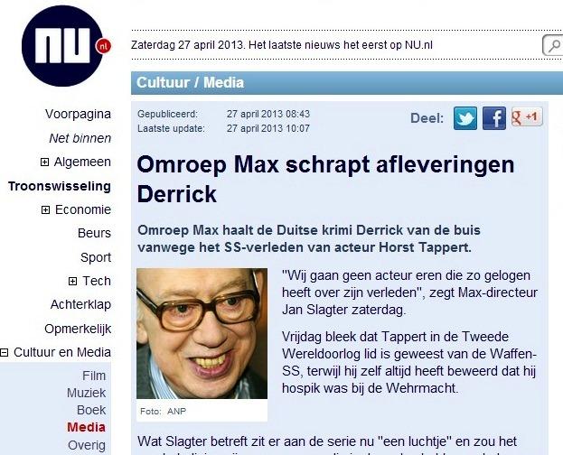 Omroep Max schrapt afleveringen Derrick