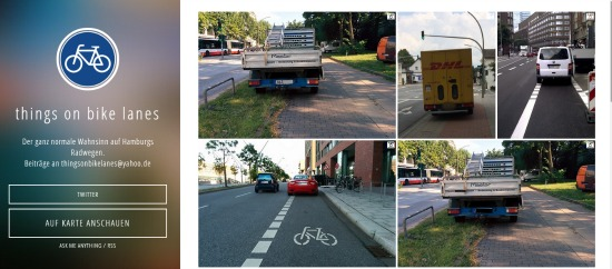 Things on bike lanes - Fem op reis
