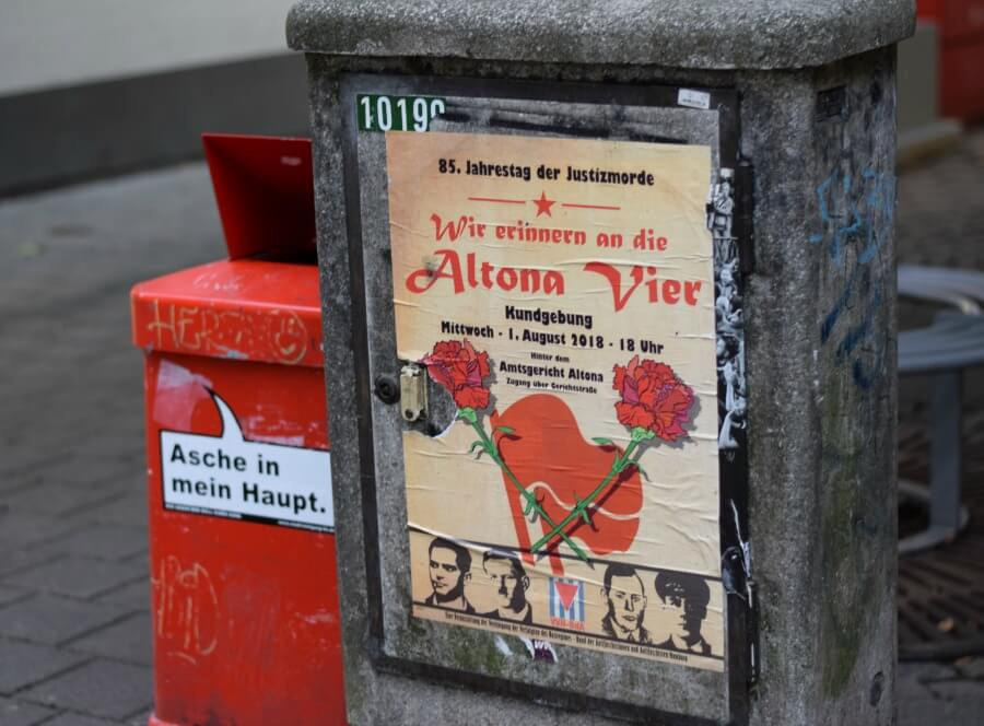 Altonaer Blutsonntag, herdenking in Altona