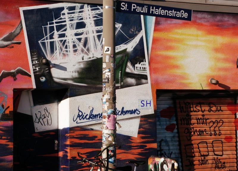 St Pauli Street 1 Art Hafenstrasse - Standort Hamburg