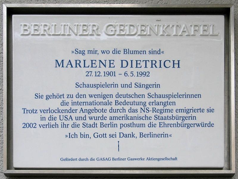 Leberstrasse 65 Geburtshaus Dietrich gedenktafel