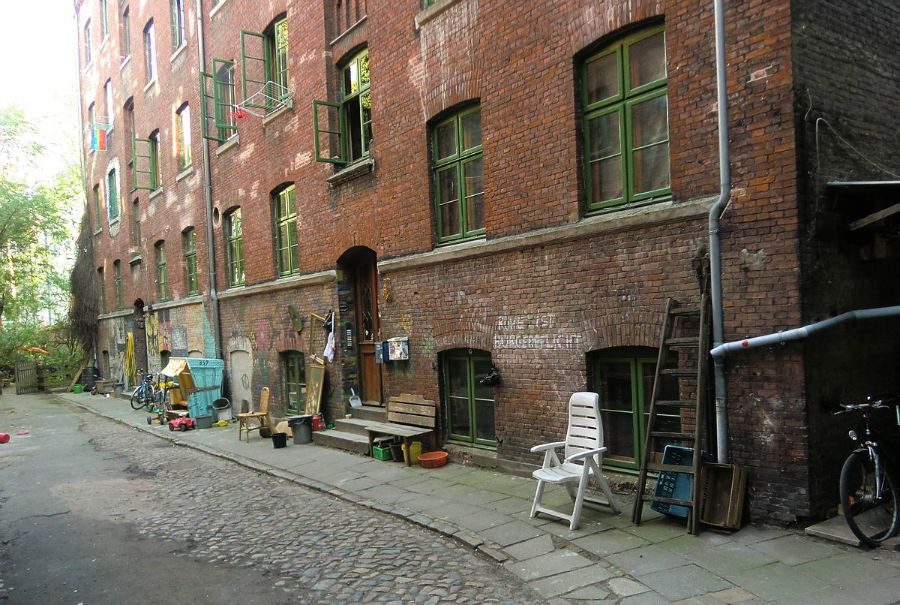 Jaegerspassage zonder John Lennon - Standort Hamburg