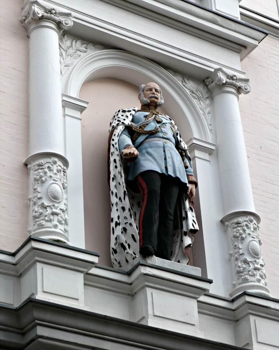 Kaiser Wilhelm sculptuur Bei der Friedenseiche