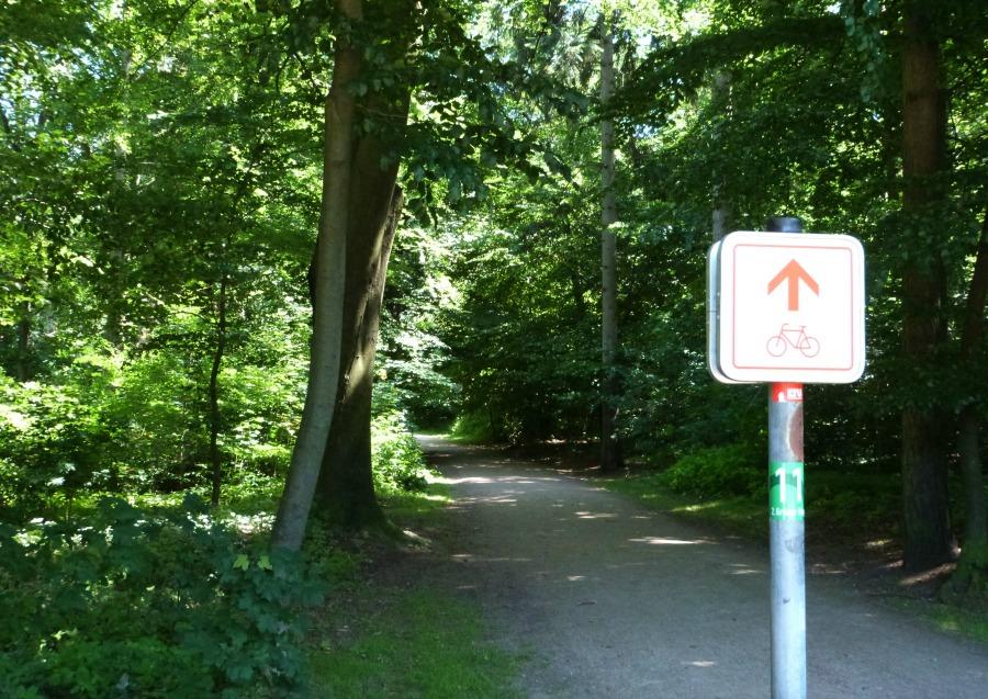 Lente in Hamburg: spring op de fiets