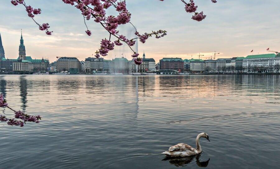 Gratis bezienswaardigheden in Hamburg: Binnenalster