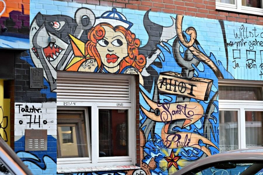Lente in Hamburg: street art kijken in St. Pauli