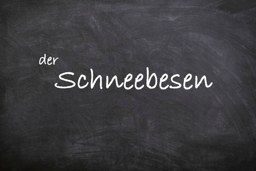 Favoriete Duitse woorden: der Schneebesen
