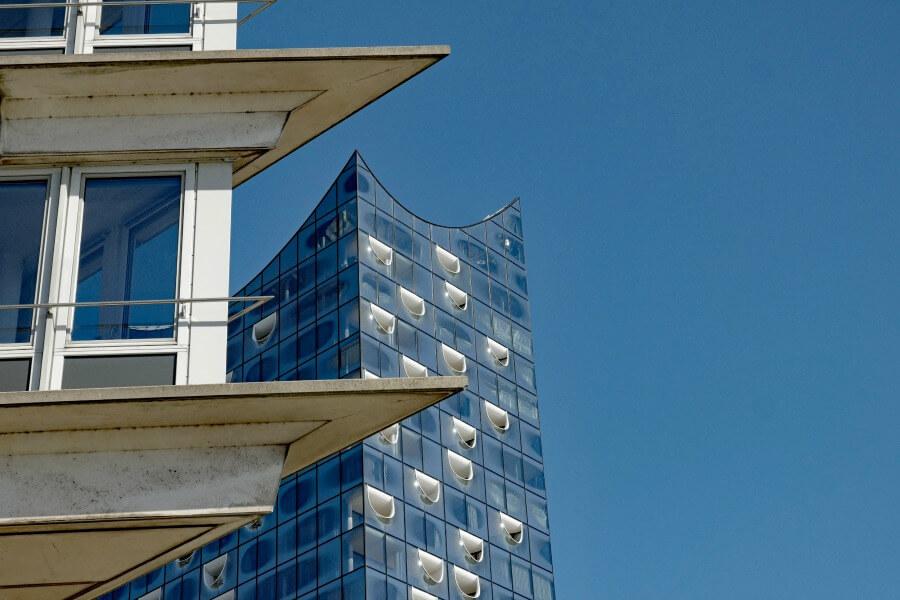 Uitzicht over Hamburg: Elbphilharmonie | Standort Hamburg