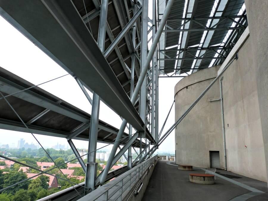 Uitzicht over Hamburg vanaf de Energiebunker in Wilhelmsburg