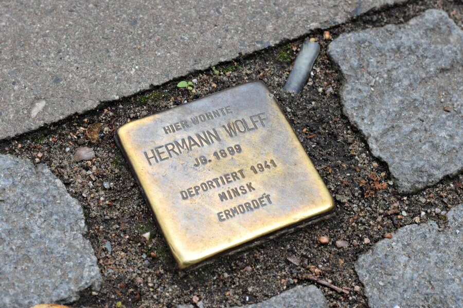 Stolpersteine in Hamburg Altona WOhlers Allee
