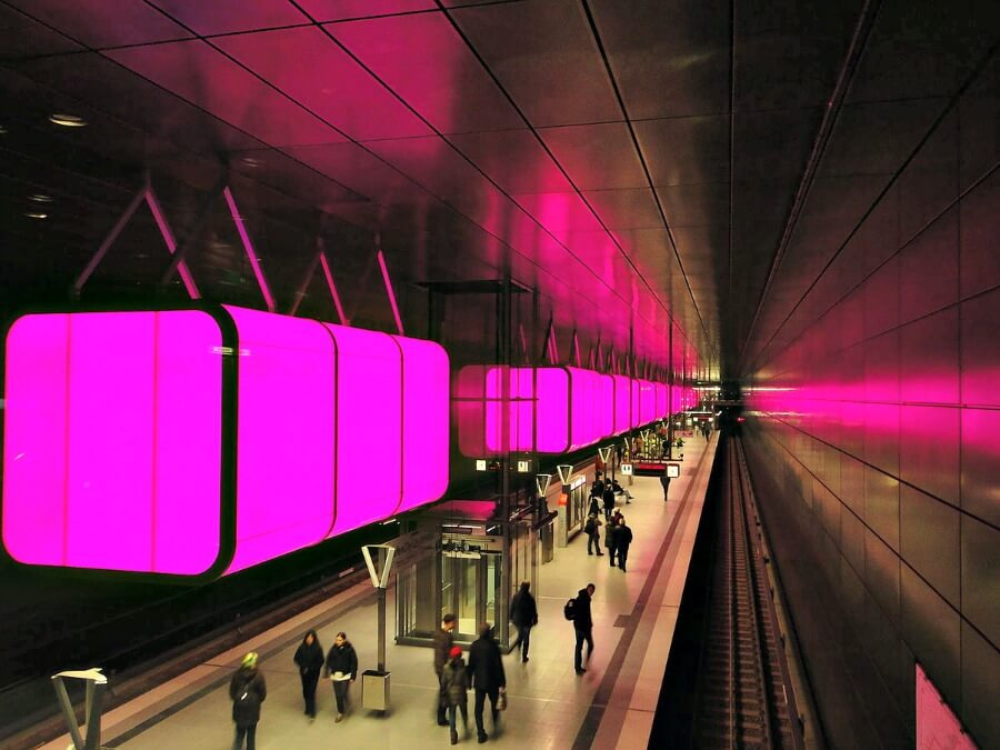 Voer voor fotografen: stations in Hamburg