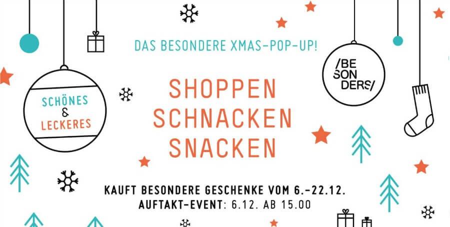 Pup-up design kerstmarkt in Hamburg: Besonders Hamburg