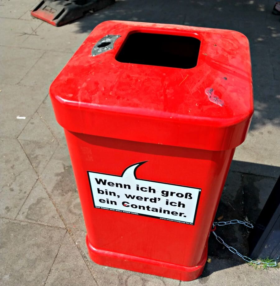 Roter Mülleimer met ambitie