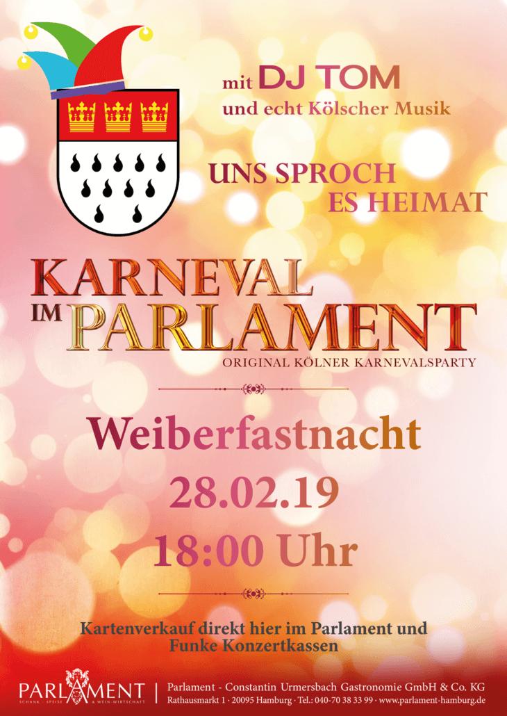 Weiberfastnacht im Parlament - Carnaval vieren in Hamburg