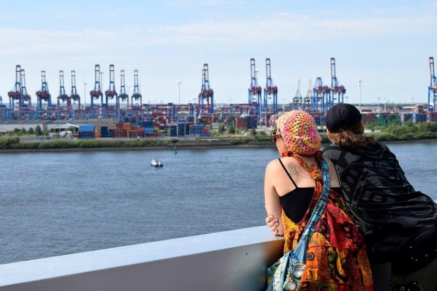 Bezoek Hamburg in juni en bekijk de stad van bovenaf
