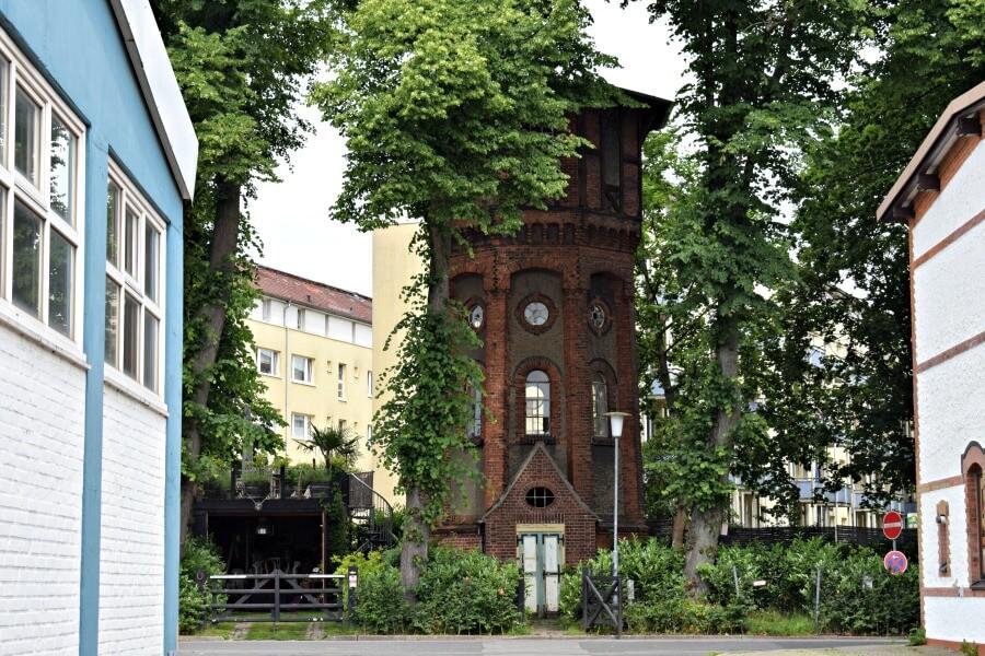Watertoren Bahrenfeld aan het Theodorhof