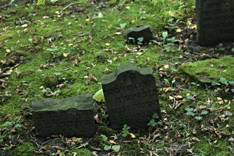 Grafstenen op de belangrijkste Joodse begraafplaats van Hamburg