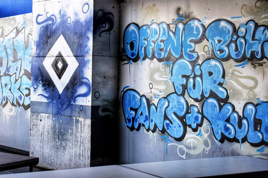 Standort Hamburg backstage bij HSV