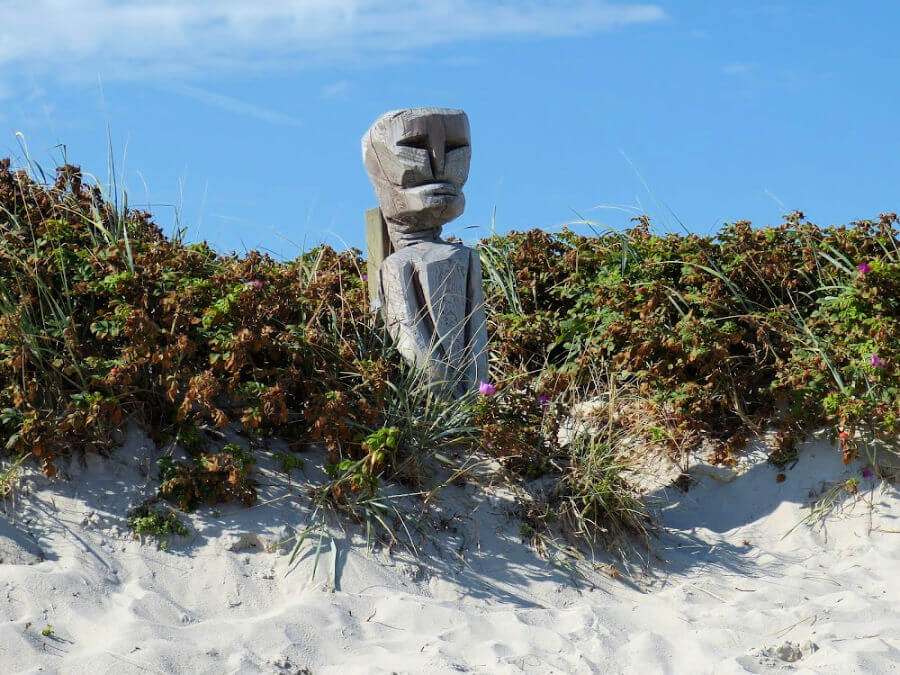 Sculpturen bij het strand van Hörnum