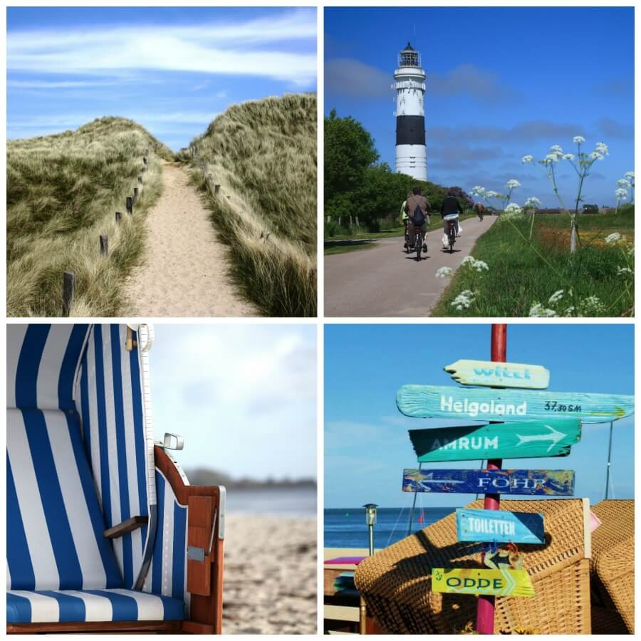 Zomer op Sylt: collage met highlights
