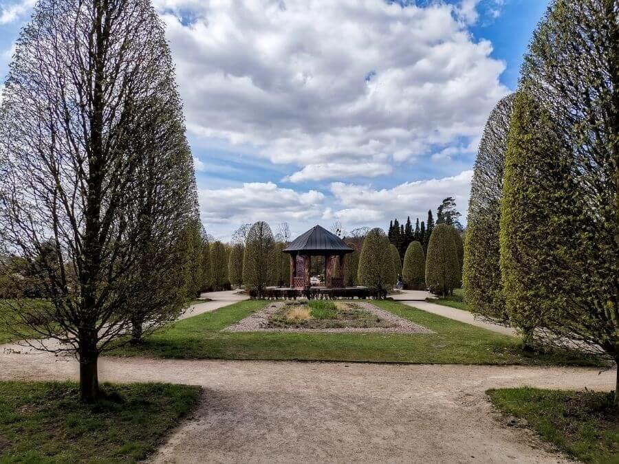 Paviljoen in de Schulgarten van het Volkspark