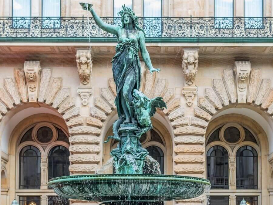 Hygieia-fontein in Hamburg