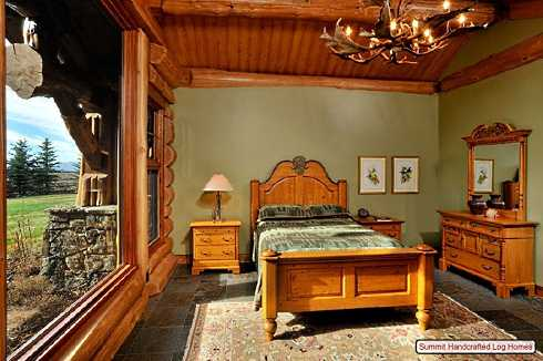 log home bedroom decorating ideas. Black Bedroom Furniture Sets. Home Design Ideas