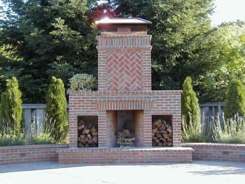 Standout Outdoor Brick Fireplaces...Delectable Decorative ... on Simple Outdoor Brick Fireplace id=31101