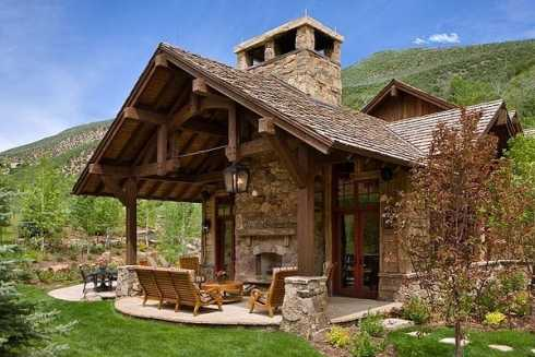 Patio Roof Designs For Outdoor Fireplaces...An Exciting ... on Roof For Patio Ideas id=81014