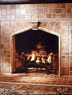 Standout Fireplace Tile Arts Amp Crafts Style