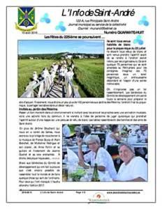 L'info de Saint-André août 2016