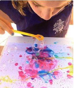 Bubble Art at Saint Andrew School