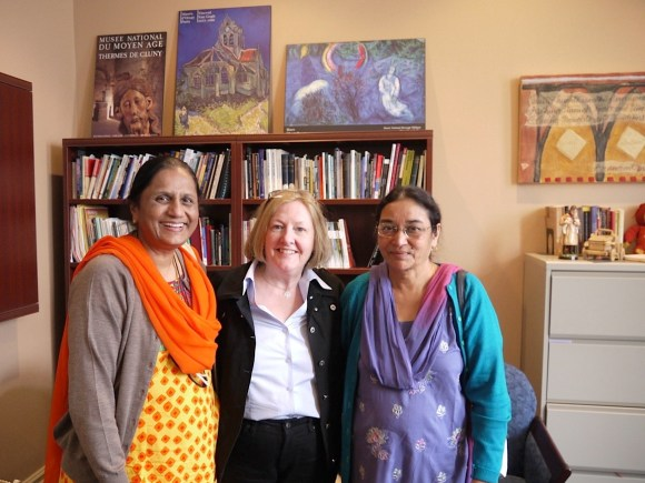 Drs. Datta and Wilson of the Church of North India visit St. Andrew's with the Rev. Dr. Glynis Williams of P.C.C.