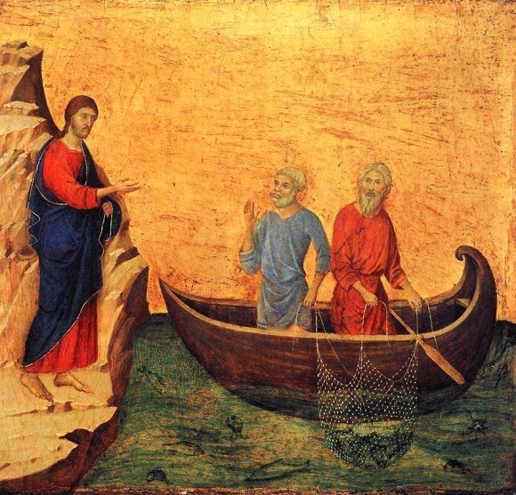 14 DUCCIO CALLING OF PETER AND ANDREW