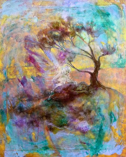 'Elijah under the broom tree' by Annamora of Wollongong, Australia