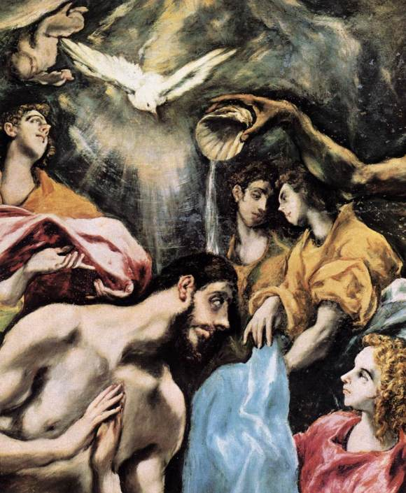 The Baptism of Christ - El Greco (1541-1614)