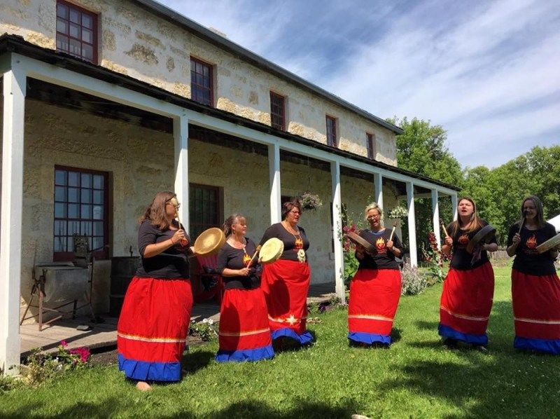 Fire Heart Women Performing at the Rectory