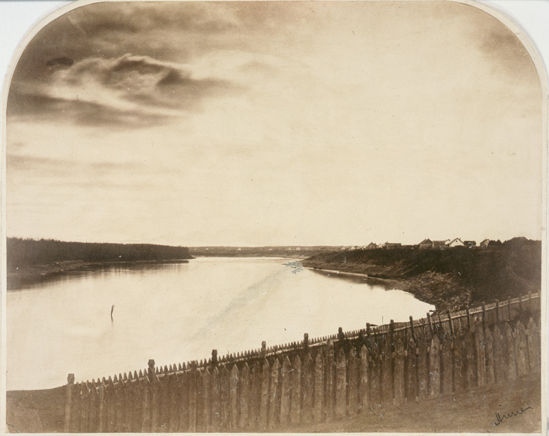 View of Red River from St. Andrew's Church, 1858