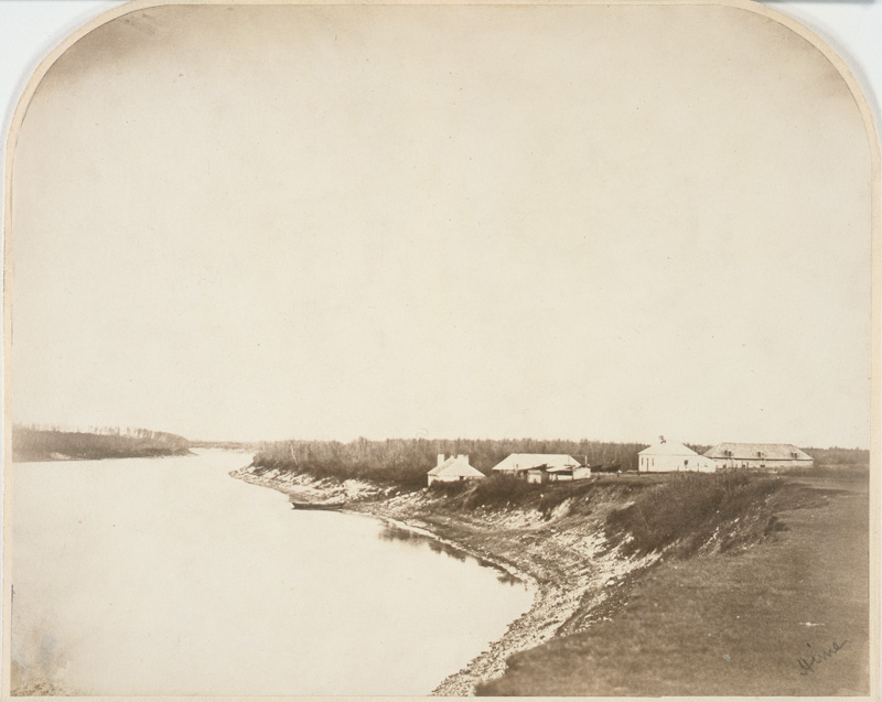 Outbuildings south of Stone Fort, 1858