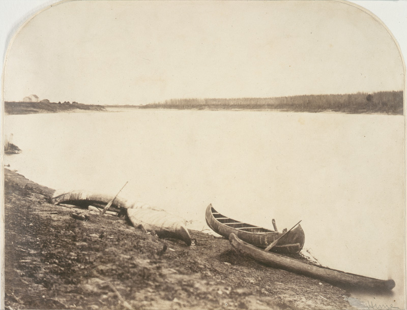 View of Red River from Stone Fort, 1858