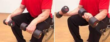 Dumbell wrist extensions