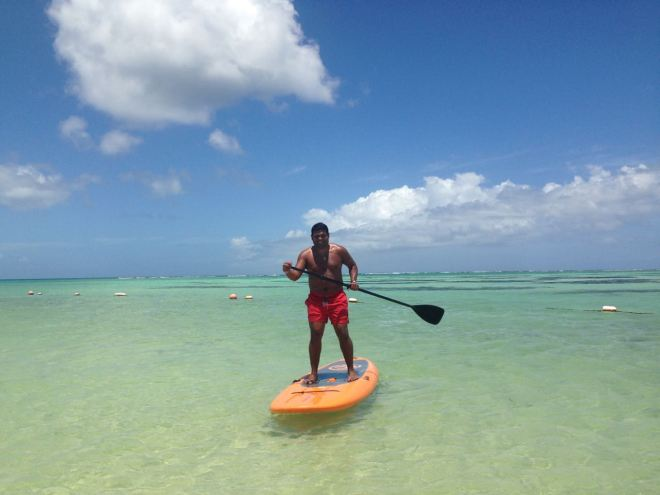 Paddling in Tobago