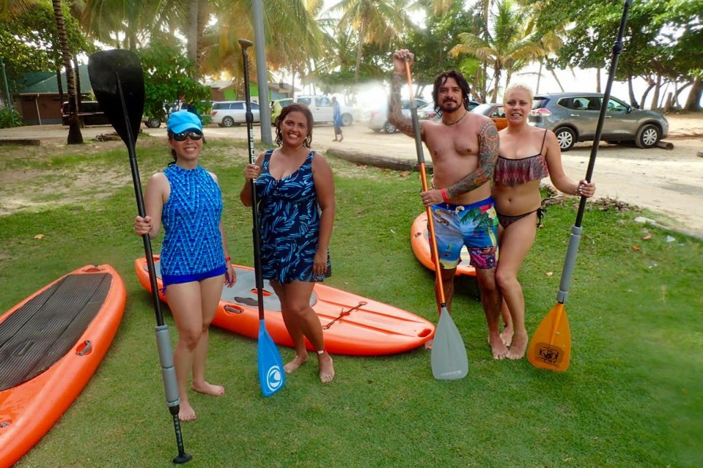Learning to Stand Up Paddle Tobago