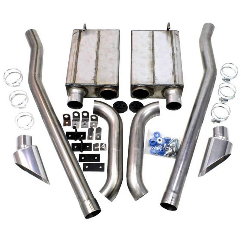 65 68 mustang jba side exit exhaust kit stainless steel