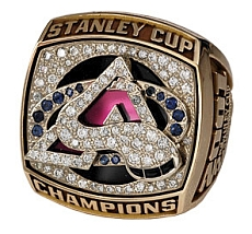 Colorado 2001 Stanley Cup championship ring - Front