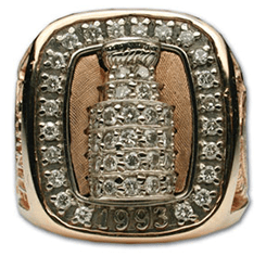 Montreal 1993 Stanley Cup championship ring - Front