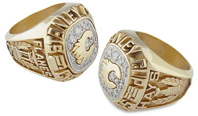 Calgary 1989 Stanley Cup playoffs ring - Combo B