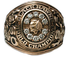 Chicago 1961 Stanley Cup winners' ring - Front