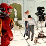 Stanley Kubrick bei Dreharbeiten zu 2001: A Space Odyssey